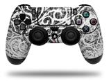 Vinyl Decal Skin Wrap compatible with Sony PlayStation 4 Dualshock Controller Folder Doodles White (PS4 CONTROLLER NOT INCLUDED)