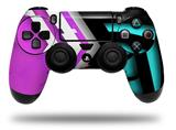 Vinyl Decal Skin Wrap compatible with Sony PlayStation 4 Dualshock Controller Black Waves Neon Teal Hot Pink (PS4 CONTROLLER NOT INCLUDED)