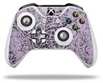 Skin Wrap for Microsoft XBOX One S / X Controller Folder Doodles Lavender