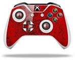 Skin Wrap for Microsoft XBOX One S / X Controller Folder Doodles Red