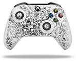 Skin Wrap for Microsoft XBOX One S / X Controller Folder Doodles White