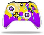 Skin Wrap for Microsoft XBOX One S / X Controller Drip Purple Yellow Teal