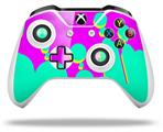 Skin Wrap for Microsoft XBOX One S / X Controller Drip Teal Pink Yellow