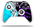 Skin Wrap for Microsoft XBOX One S / X Controller Black Waves Neon Teal Purple
