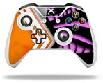 Skin Wrap for Microsoft XBOX One S / X Controller Black Waves Orange Hot Pink