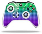 Skin Wrap for Microsoft XBOX One S / X Controller Faded Dots Purple Green