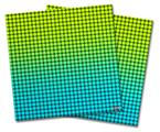 Vinyl Craft Cutter Designer 12x12 Sheets Faded Dots Neon Teal Green - 2 Pack